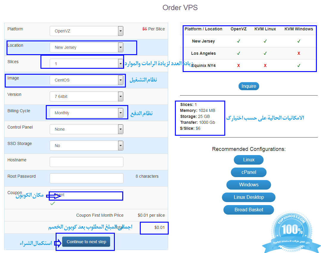 ارخص واسرع VPS ويندوز ولينكس مقابل 1 سنت interserver